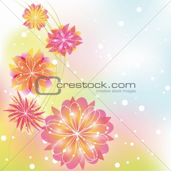 Abstract springtime colorful flower