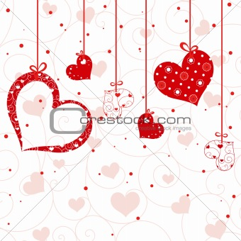 St Valentine greeting card