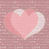 Abstract St Valentine pink white heart shape on seamless pattern