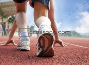 athlete ready for race