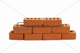 brick wall is partially