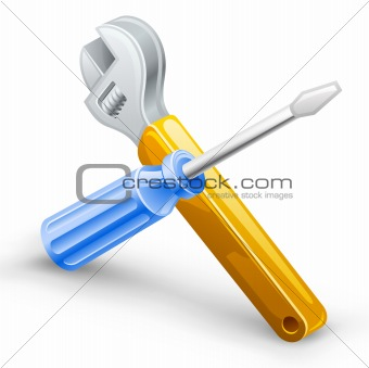 Tools: screwdriver, spanner.