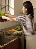 Woman preparing food