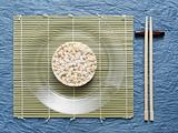 Rice cake and place setting