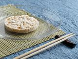 Rice cake on a place setting