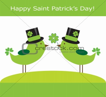 Saint Patrick&#39;s Day Birds