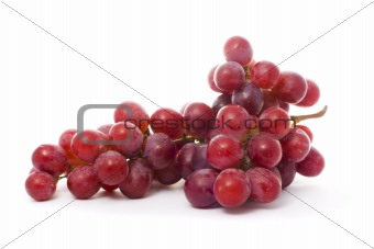 a bunch of juicy grape isolated over white