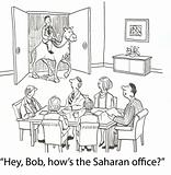 Camel in office