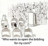 Bidding on corn