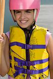 Girl ready for canoeing