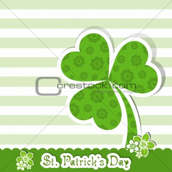 Template St. Patrick's day greeting card, vector