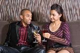 Couple having cocktails