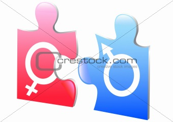 Women and man puzzle