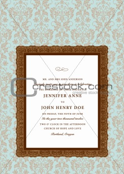 Vector Extra Ornate Frame and Pattern