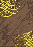 Vector Ornate Wood Background