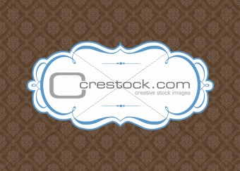 Vector Ornate Frame and Wood Background