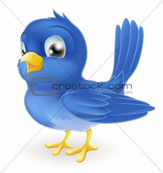 Cute cartoon bluebird