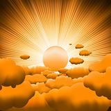 Sunburst backgrouns template design. EPS 8 vector file included