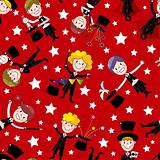 Cartoon magician seamless pattern