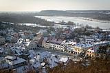 Panorama of Kazimierz Dolny in winter