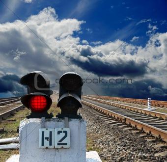 semaphore on the rail road