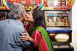 Couple in an amusement arcade