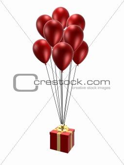 present on balloons
