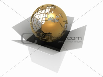 golden earth in a box