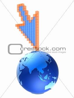 3d cursor and globe