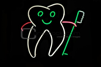 Tooth Neon Sign