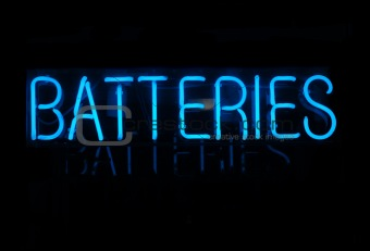 Batteries Neon Sign