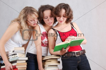 three student-like girls