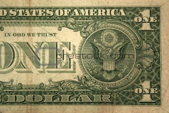 Back Half one dollar bill