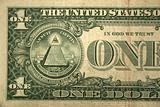 Back Half one dollar bill