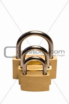 Three padlocks of different size