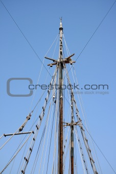 antique sail and ropes