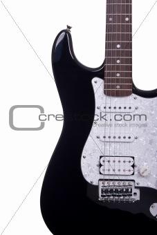 Electric guitar partial view