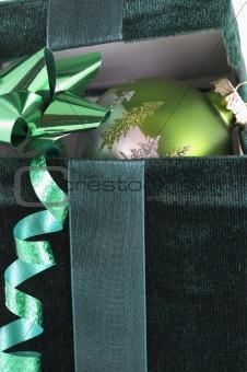green box and bulb