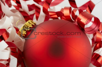 red bulb and ribbon