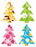 Christmas tree backgrounds, vector