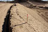 Sandbags & Marker Sticks at Construction Site