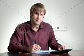 accountant at work