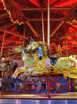 carousel, merry go round for children