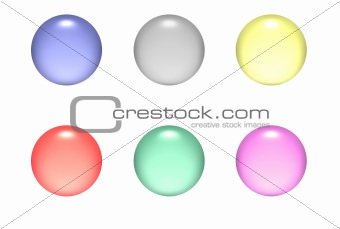Aqua Round Buttons