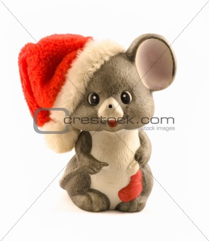 A cute little mouse christmas decoration