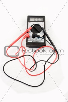 A multi-meter isolated on a white background