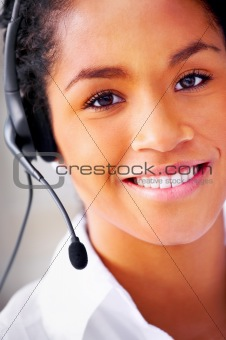 Beautiful telephone operator