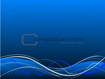 Blue abstract vector rush  background