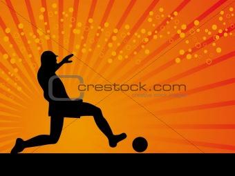 Black defender footballer vector background