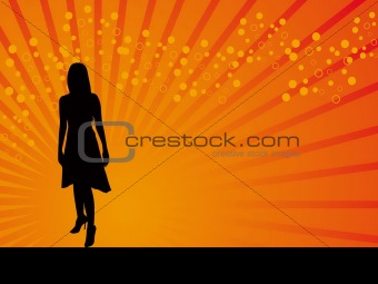 Black model girl vector background
